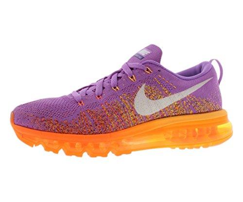 nike flyknit air max womens running trainers 620659 sneakers shoes (uk 4 us 6.5 eu 37.5, atomic purple white total orange 500)