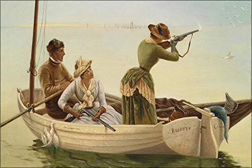 - FemiaD 18x24 Poster- Wall Art Gulls Hunting, Signed Fr. Tonin 1900S