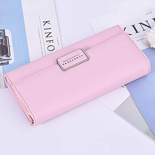 Women's Color Lovely Tri Black rabbit Purse Stylish fold Bag Cell PU Clutch Leather Pink Phone 1775q