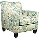 Ashley Furniture Signature Design - Daystar Accent Chair - Contemporary Floral Pattern - Seafoam