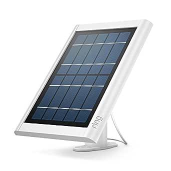 Ring solcellspanel för Spotlight Cam Battery och Stick Up Cam Battery – ser till att säkerhetskameran alltid är laddad | vit