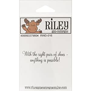 Riley & Company Funny Bones Cling Mounted Stamp-With The Right Pair Of Shoes