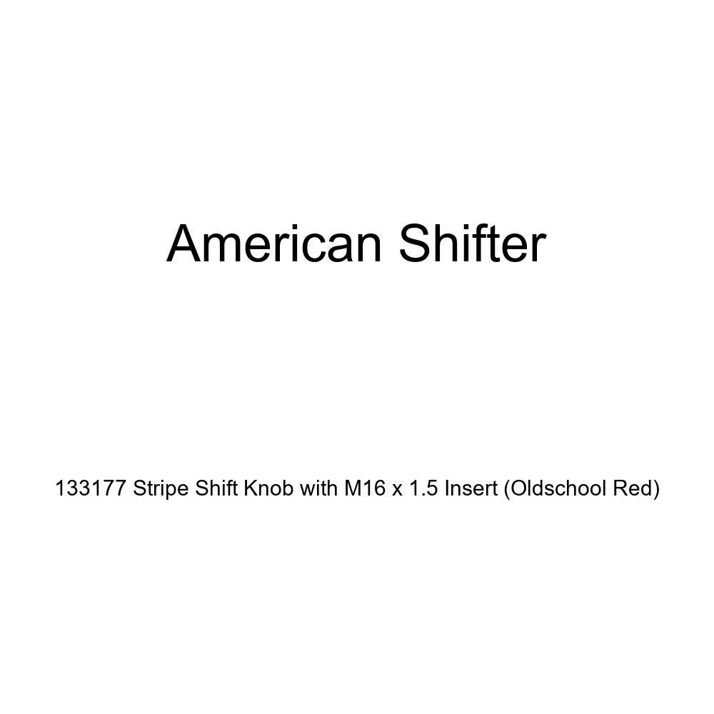 American Shifter 133177 Stripe Shift Knob with M16 x 1.5 Insert Oldschool Red