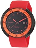 red line Men's 50039-BB-01-RD Driver Black Dial Red Silicone Watch, Watch Central