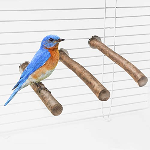 Niteangel Natural Wood Bird Cage Perch (3-Piece Set)
