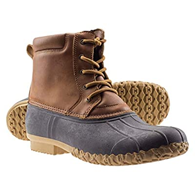 ArcticShield Mens Waterproof Insulated Durable Outdoor Work Rain Winter Snow Duck Bean Boots   Snow Boots
