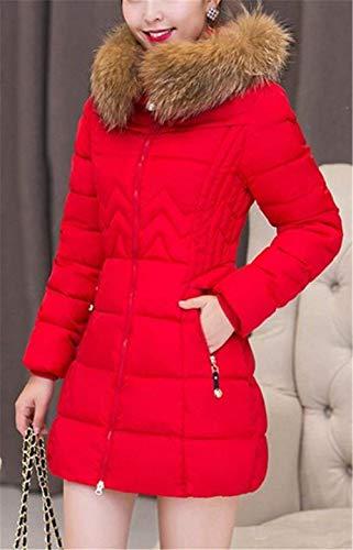 Vintage Rot In Parka Donna Plus Prodotto Calda Cappuccio Addensare Fit Outdoor Manica Eleganti Con Invernali Moda Invernale Piumini Lunga Cappotti Slim Piumino Pelliccia zYqBgwxFw