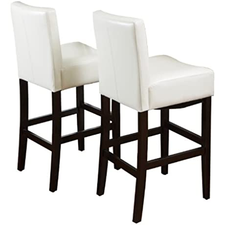 Best Selling Classic Cream Leather Barstool 2 Pack