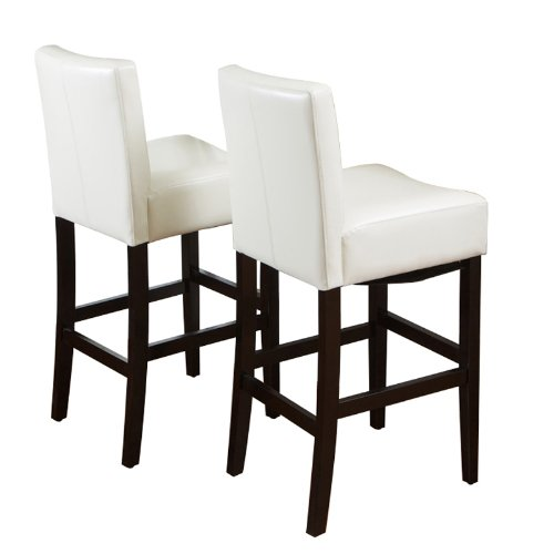 Best Selling Classic Cream Leather Barstool, 2-Pack (Cream Stools Leather Bar)