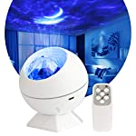 Yiliaw Galaxy Star Projector Night Light with Moon Ocean Wave Projector with Voice Control Mode and Adjustable…