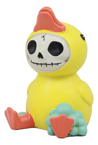 Bubble Skeleton - Ebros Furry Bones Bubbles Bob The Rubber Duck Figurine Yellow Ducky Hooded Skeleton Monster Collectible Small Sit Up Sculptrue