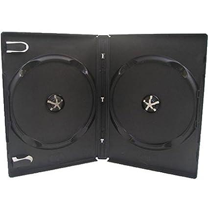 100 negro casos de DVD Doble – 14 mm – por DragonTrading®