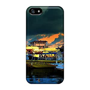 For Iphone 5/5s Fashion Design Beautiful Boats Cases-NVP15087SHLJ