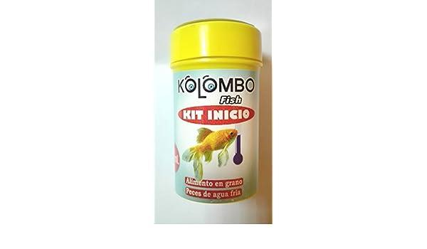 Alimento en grano para peces agua fria kit inicio Kolombo (Formato 50 ml): Amazon.es: Productos para mascotas