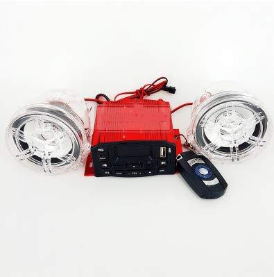 Alamor 12V 4Ch Moto Estéreo LCD Altavoces Mp3 Player FM USB Aux Amplificador Antirrobo Alarma