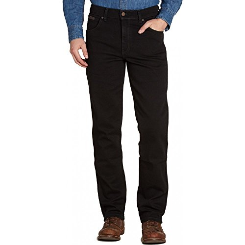 WRANGLER TEXAS HERREN STRAIGHT LEG REGULAR FIT ZIP FLY JEAN-DENIM W38 L32/BLACK