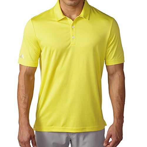 adidas Golf Men's Climachill Solid Club Polo Shirt, Light Yellow S, Small