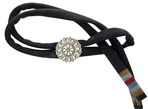 Stacey Gishal, Bolo, Cloth Tie, Stamping, Sterling Silver, Navajo Handmade