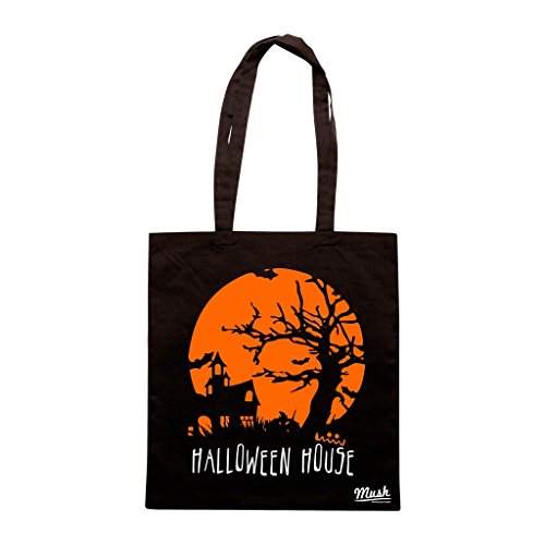 Borsa Halloween House - Nera - Funny by Mush Dress Your Style