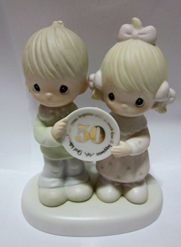 Precious Moments 50th Anniversary God Blessed Our Years Together with So Much Happiness Figurine (1983)