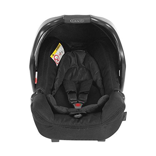 Graco Junior Baby Classic Connect siège auto Groupe 0+, Noir Intense