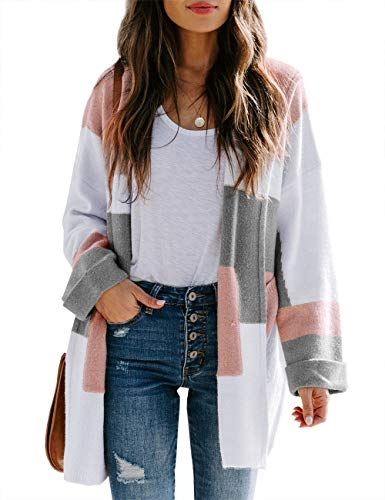 Chang Yun Women/'s Fuzzy Open Front Cardigan Sweater Fluffy Long Sleeve Casual Soft Knit Warm Coat with Pockets