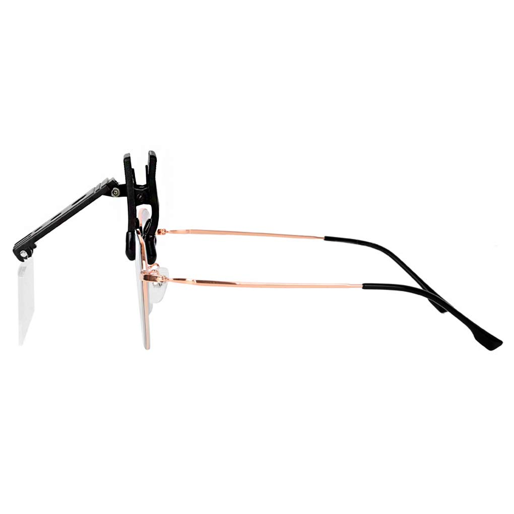 rimovibile rettangolare trasparente Lente dingrandimento per occhiali con clip per montatura di occhiali