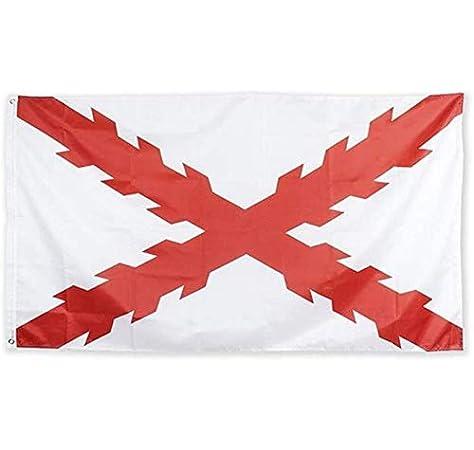 Estirpe Imperial Bandera Cruz de Borgoña 150x90cm: Amazon.es: Ropa ...