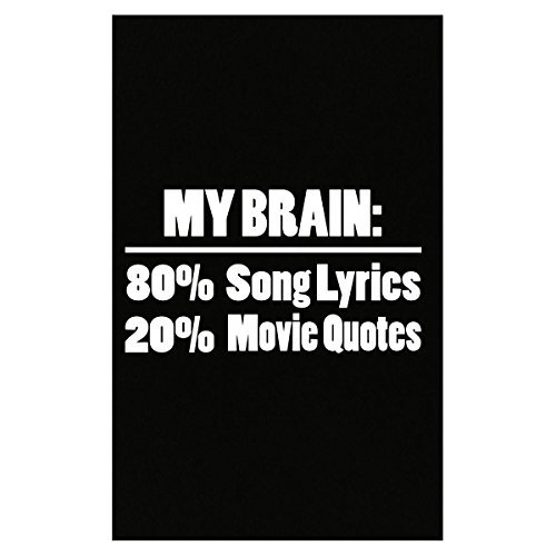 My Brain Is 80% Song Lyrics 20% Movie Quotes Funny Joke - Poster
