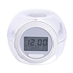 Margoth 7-color Changing Lights Nature Sounds LED Digital Alarm Snooze Clock with Thermometer & Timer