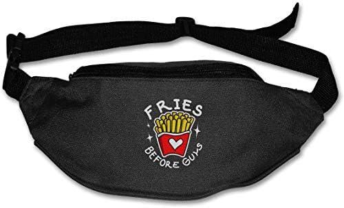Fries Before Guysユニセックスアウトドアファニーパックスポーツベルトバッグスポーツウエストパック