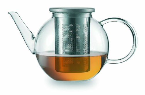 Jenaer Glas Concept Tea Collection Good Mood Teapot with Stainless Steel Lid and Strainer, 33.8-Ounce