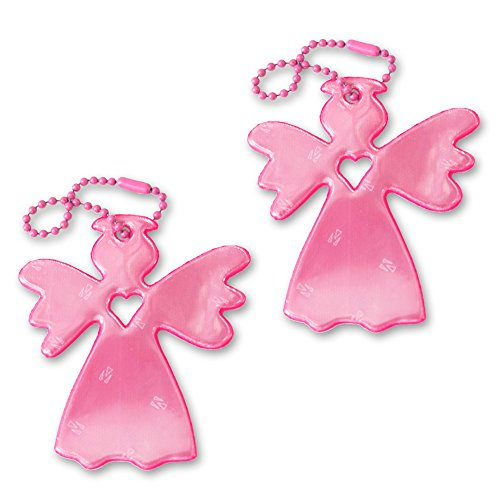 funflector Safety Reflector - Angel - Angelo Pink - 2-pack