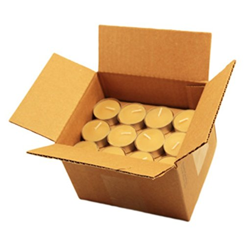 (Honey Candles Pure Beeswax Tealight Candle w Cup- Set of 48, 48 Piece)