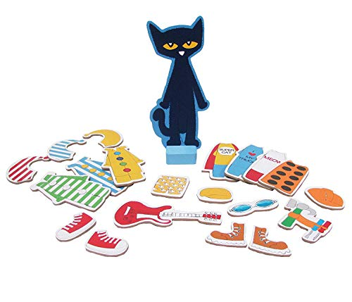 Pete the Cat Wood Magnetic Dress Up Doll Set - 34 Pieces