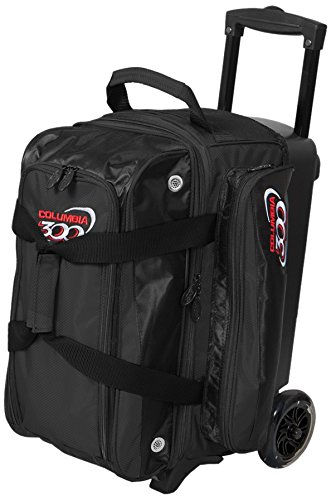 Columbia 300 Bowling Icon Double Roller Bowling Bag, Black