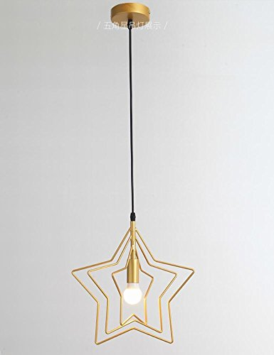 DEN Nordic creative personality restaurant entrance aisle five-pointed star chandelier study balcony bar chandelier,A,3 heads by DEN