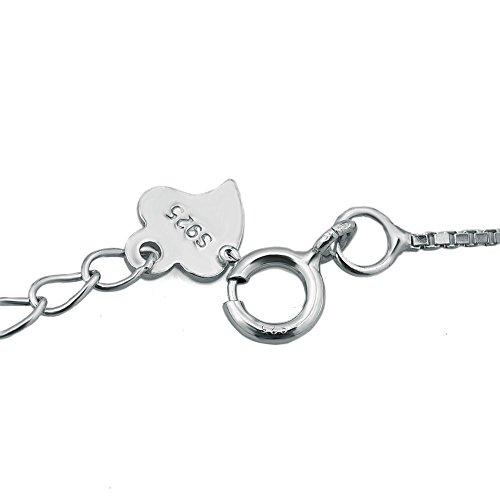 Casa De Novia Jewelry 925 Sterling Silver Heart Beach Bracelet Ankle for Women Girls Bracelets Anklet Adjustable (Heart Love) by Casa De Novia Jewelry (Image #2)