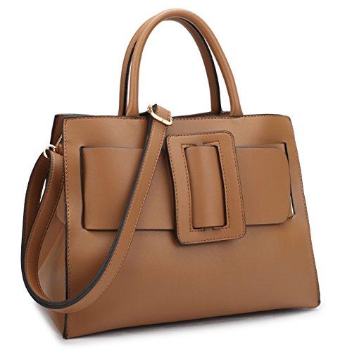 Dasein Women's Designer Handbags Fashion Satchel Handbags Shoulder Bags Top Handle Work Bags w/ (Inspired Tote Handbag)