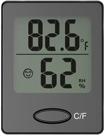 Vosarea Mini higrómetro Digital Termómetro Temperatura de Escritorio Monitor de Humedad Reloj de Alarma para la