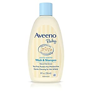 Aveeno Baby Wash & Shampoo For Hair & Body, Tear-Free, 8 Oz. (Pack of 2)