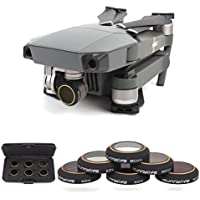 Drone Fans Mavic Pro Lens Filter Accessories HD ND4 ND8 ND16 ND32 CPL UV Filter Set For DJI Mavic Pro Drone 6 Pack