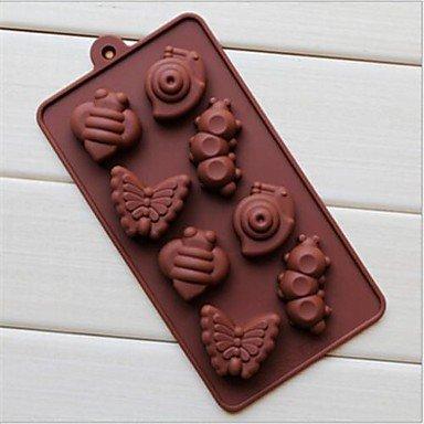 Party Supplies 8 Hole Snail Caterpillar Shape Cake Ice Jelly Chocolate Molds,Silicone 19.2¡Á10.6¡Á2 CM(7.6¡Á4.2¡Á0.8 INCH)