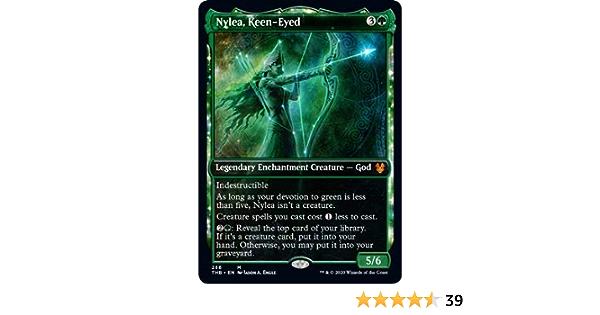 Showcase Frame NM Card Keen-Eyed MTG Theros Beyond Death Nylea