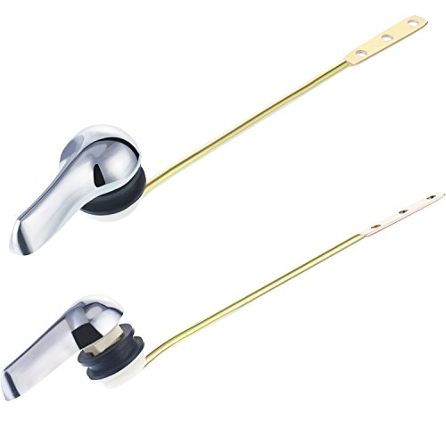 Bememo 2 Pack Toilet Tank Handle Flush Lever Replacement for Toilet Front Mount Handle, Chrome