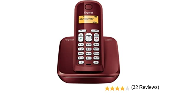 Siemens Gigaset SIAS200R - Teléfono inalámbrico, 10 melodías de timbre, capacidad guía telefónica 60, color rojo: Siemens: Amazon.es: Electrónica
