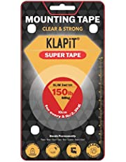 KLAPiT Super Tape Slim 3 Meter Holds 150LB/68kg, Double Sided Tape Heavy Duty, Mounting Tape Adhesive Super Strong with Nano Technology for Wall Tape Poster Carpet Tape - Waterproof, Transparent Tape