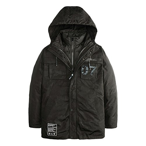 version winter The fashion down men's in green slim XL of Mianfu Korean coat jacket HHY xFEwqUpw