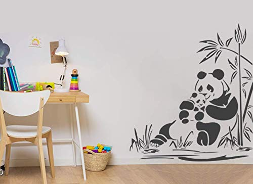 Buy Gallerist In Wall Painting Stencils Family Panda Wall Stencil Design For Kids Room 3 Stencils Size 12x18 12x12 10x12 Inches Reusable Diy Online At Low Prices In India Amazon In