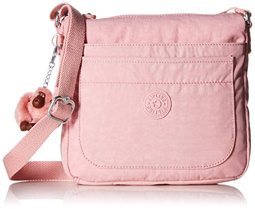 Kipling Women's Sebastian Bag, Adjustable Crossbody Strap, Top Zip Closure, strawberry pink tonal